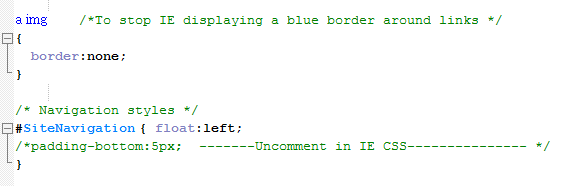 Code for IE