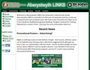 Image of blog in Aber LINKS site