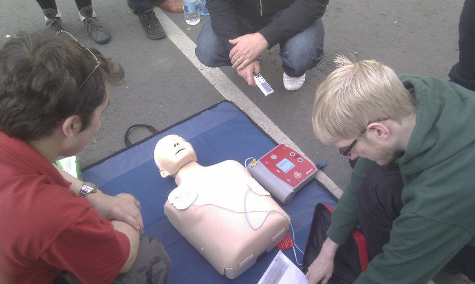 AED and CPR on Annie Doll