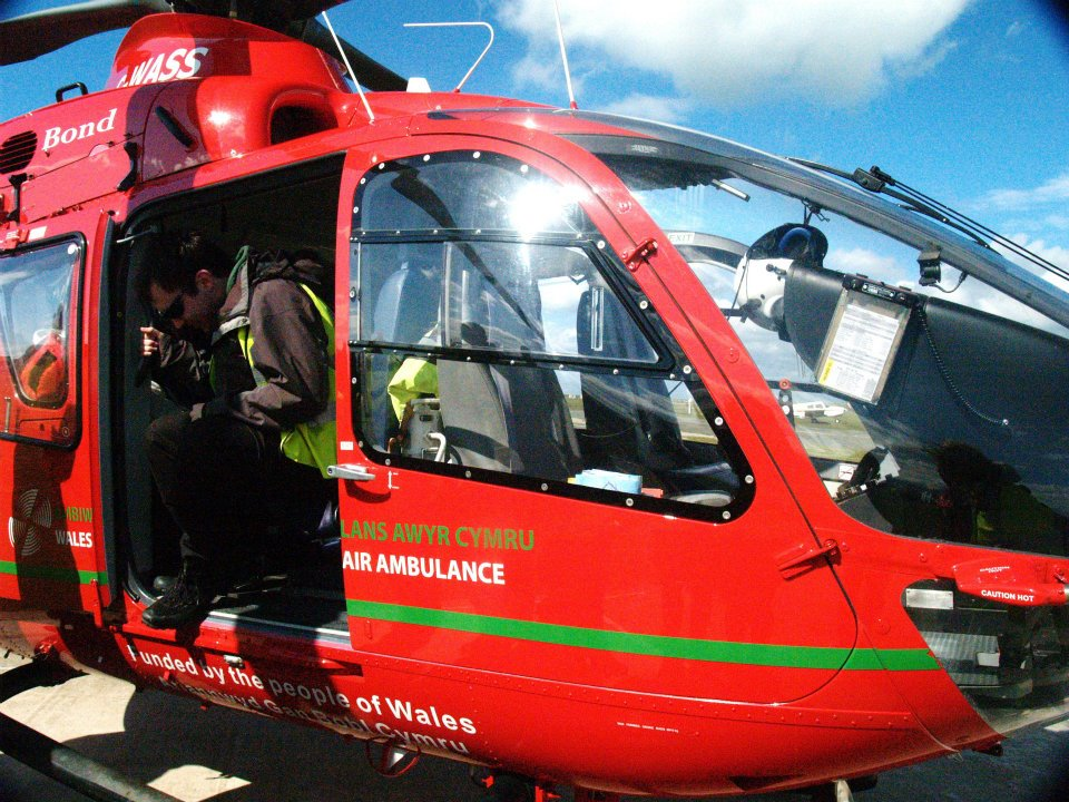 Me in the Air Ambulance