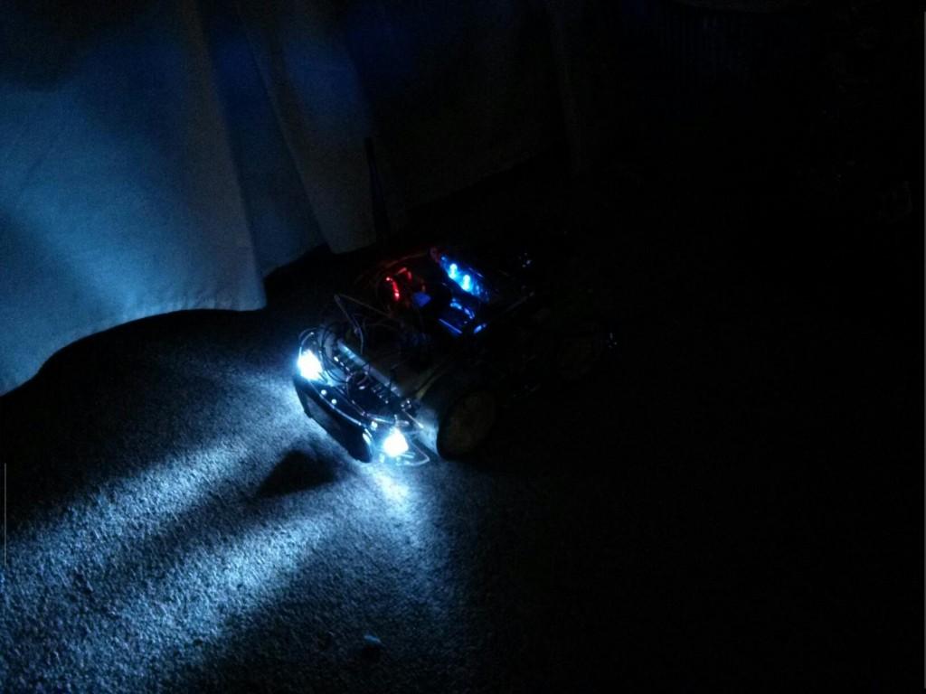 Headlights on Pi Car
